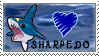 Sharpedo Stamp by DrkFaerieGFX