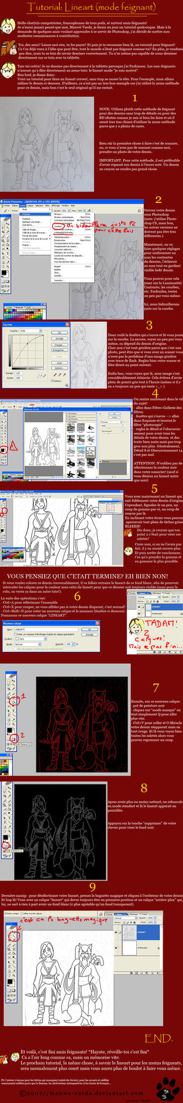TUTO: LINEART -mode feignant- by Manwe-Varda