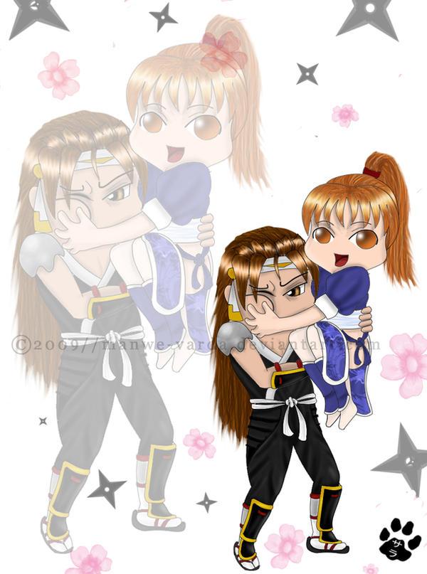 Request-Chibi Ryu + Kasumi by Manwe-Varda