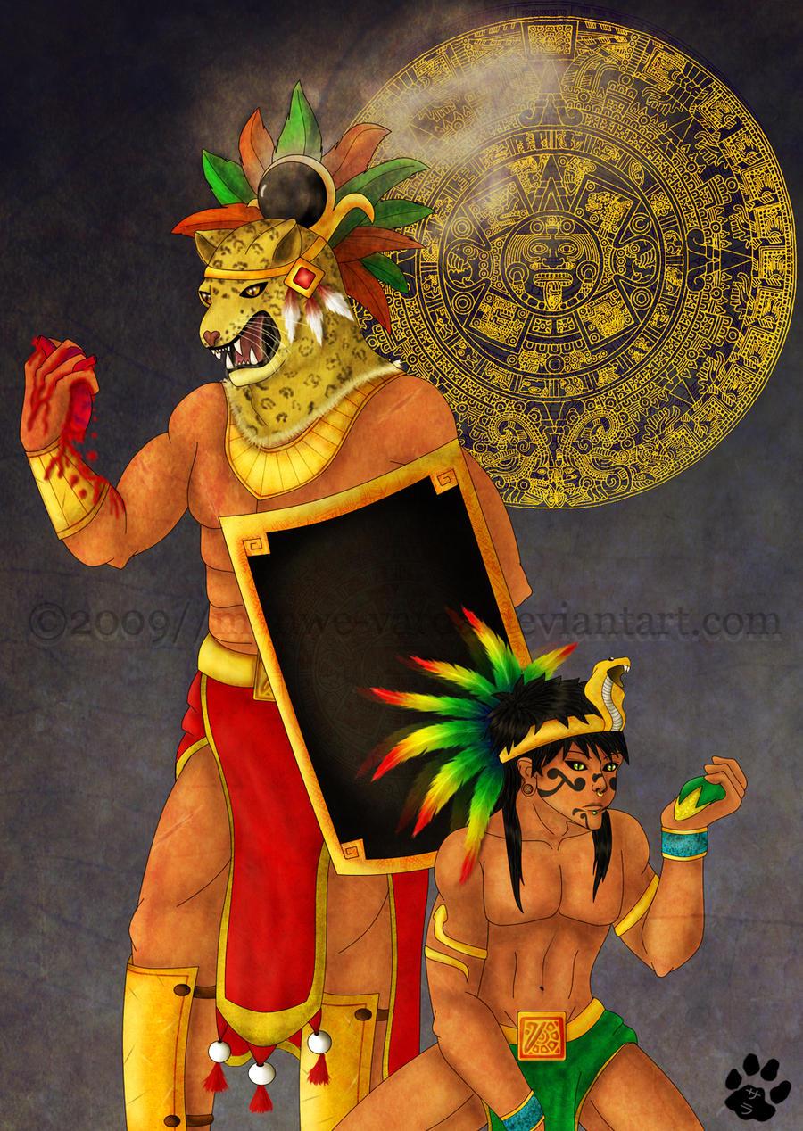 Tezcatlipoca and Quetzalcoatl by Manwe-Varda