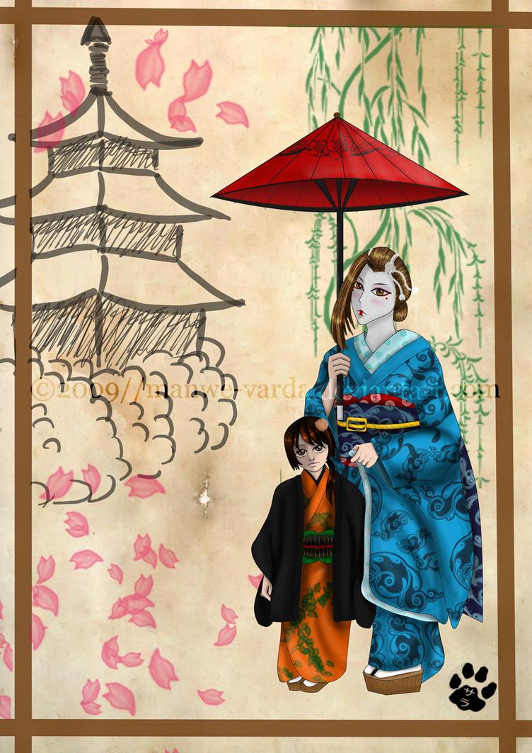 Katana of Gion _ Geisha by Manwe-Varda