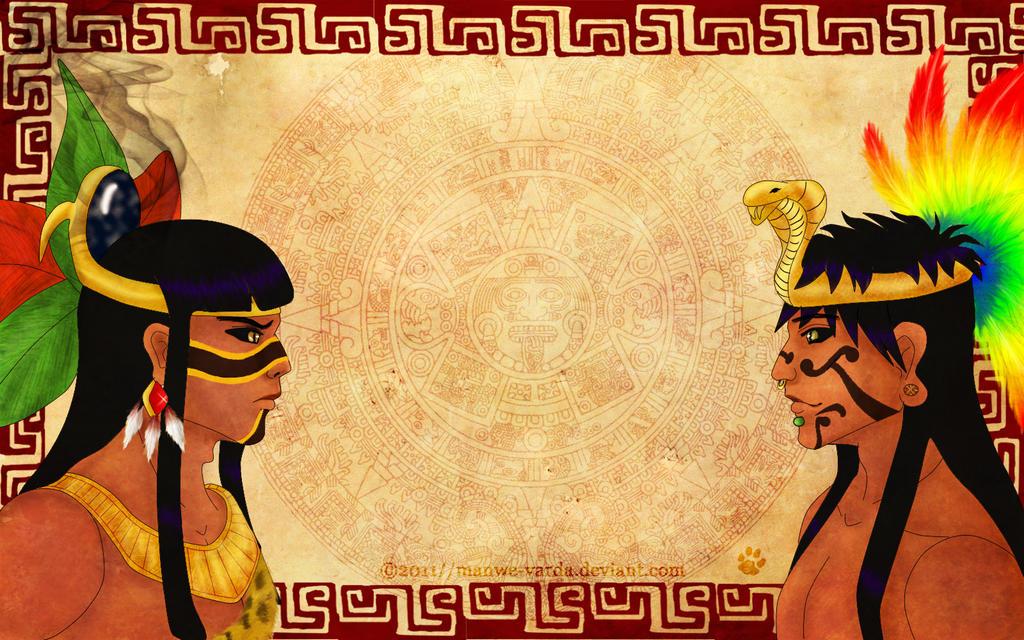 Aztec God's rivality by Manwe-Varda