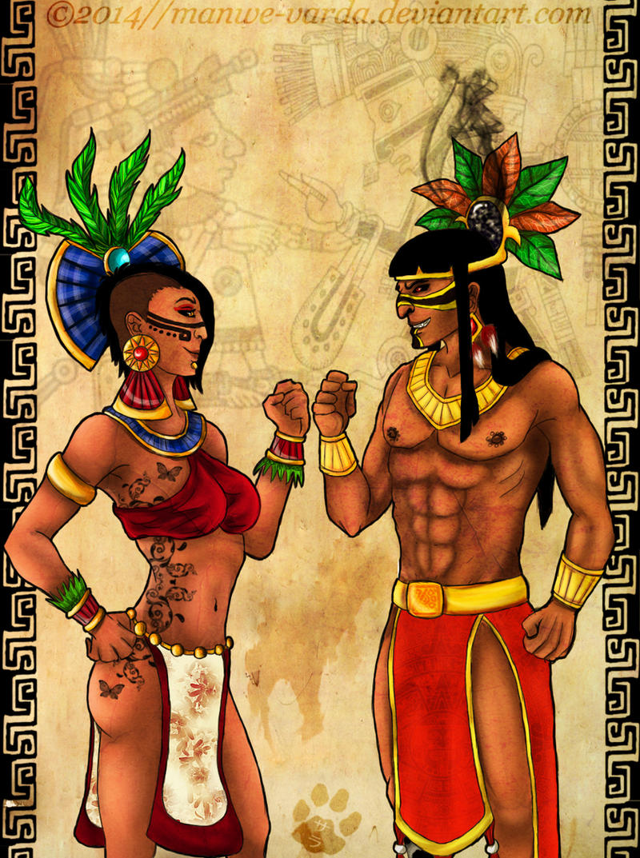 Tezcatlipoca and Xochiquetzal by Manwe-Varda on DeviantArt