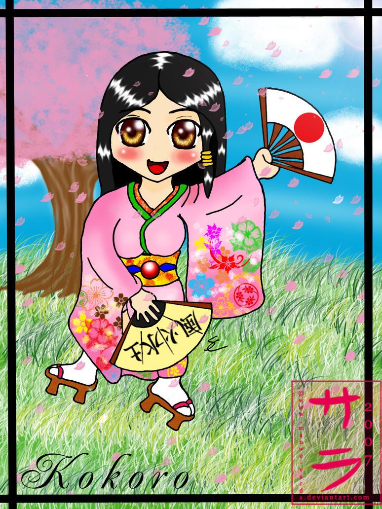 Chibi Kokoro - fans by Manwe-Varda