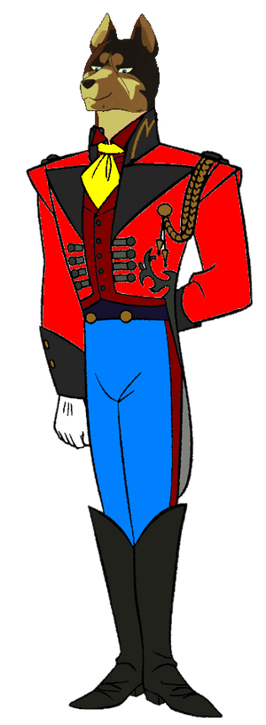 Lupinian Riki in 19th century clothing
