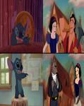 Stitch Prefers Balto and Snow White than Gaston