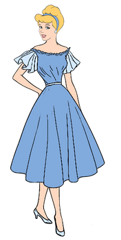 Cinderella in 1950's Clothing