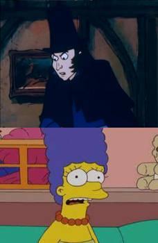 Monks Scolds Marge for scaring Oliver Twist