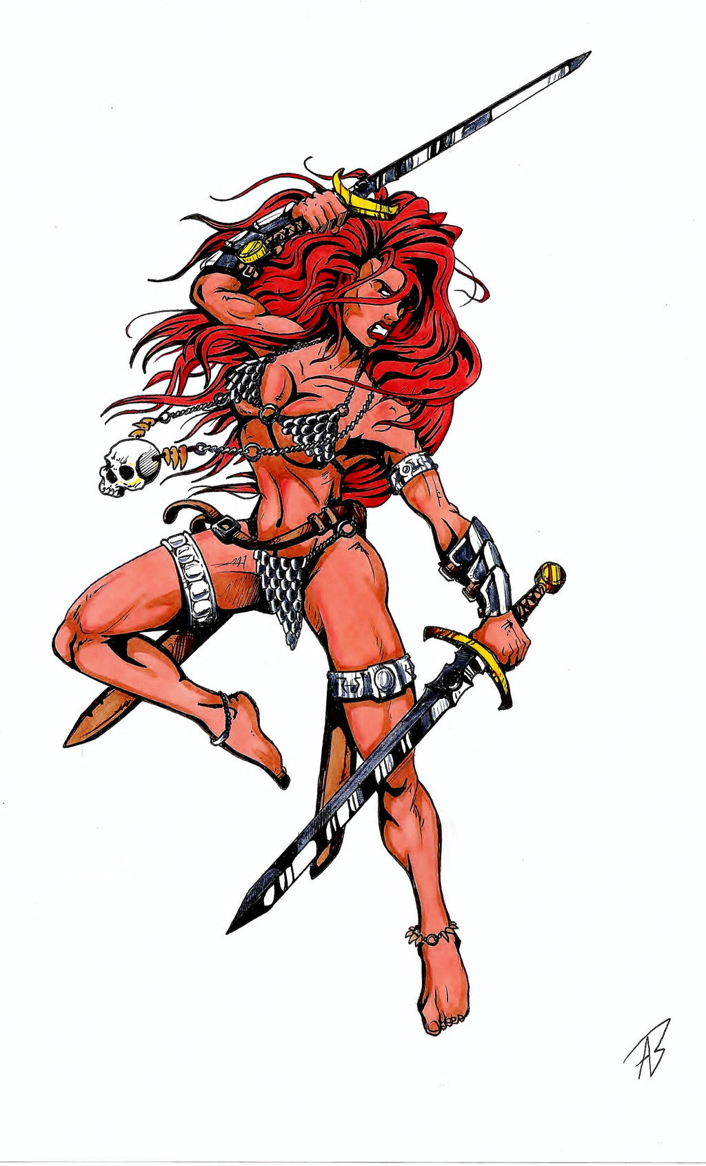 Red Sonja by Andrei-Woodleg