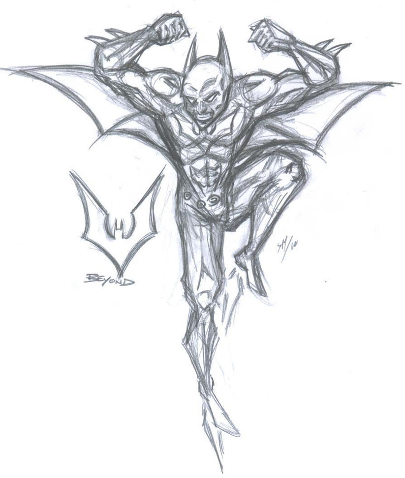 Batman Beyond barebones sketch by sebatman on DeviantArt