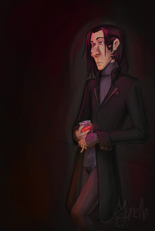 Snape in a bar... by Murielle