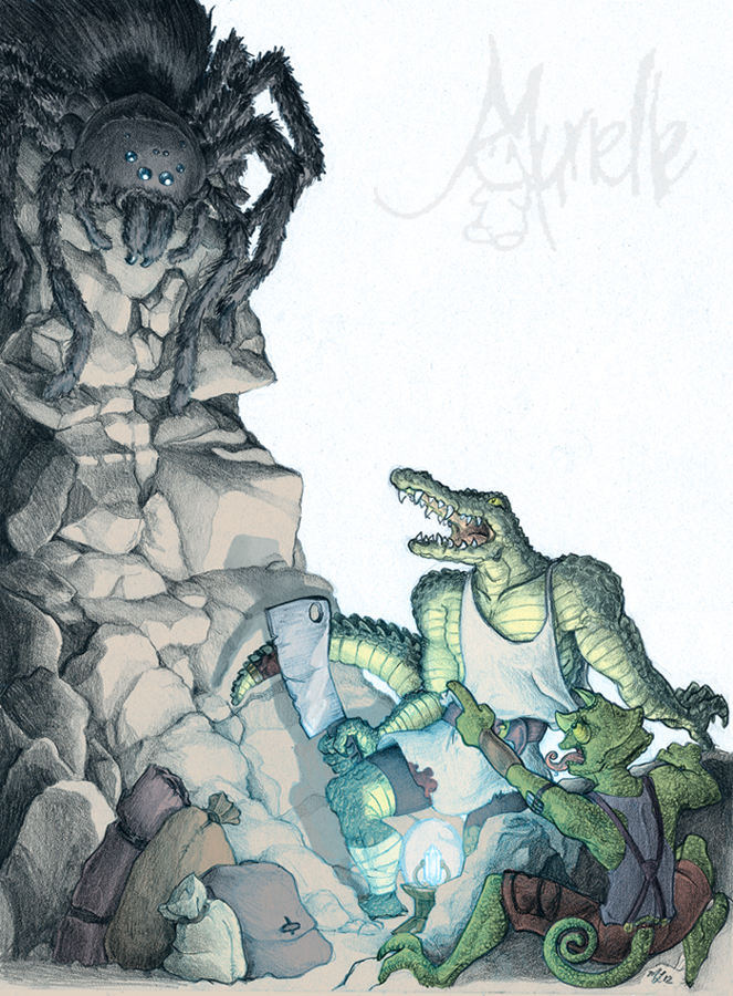 Reptil boys in Peril by Murielle