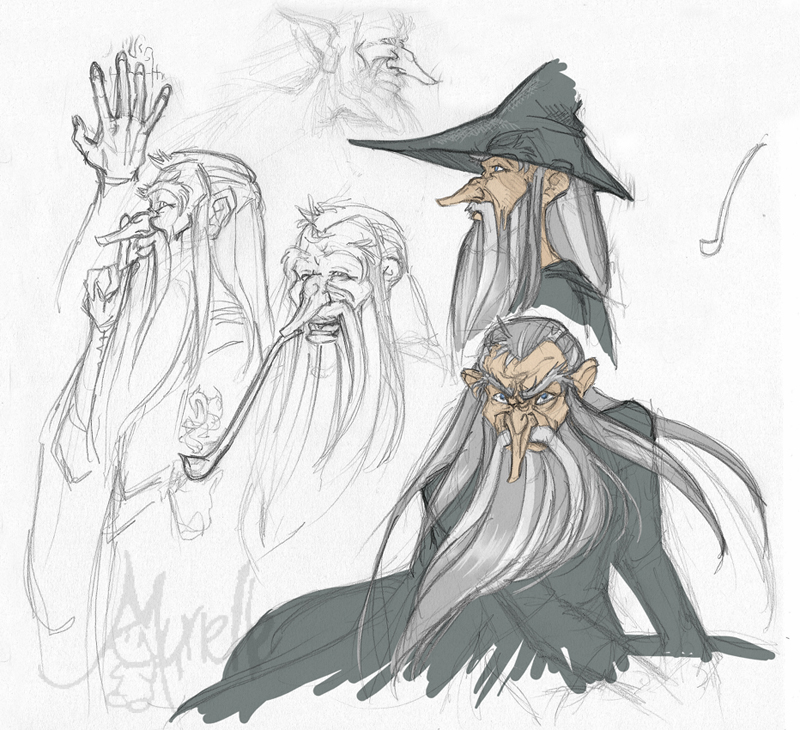 Gandalf doodles by Murielle