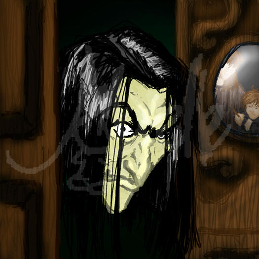 Oh I Heart This So Much Esp How Everything Centres: Boggart Snape By Murielle On DeviantArt