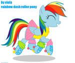 rainbow dash roller pony