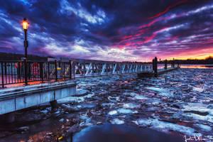 Frozen Pier by JustinDeRosa