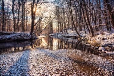 Sunrise over the creek