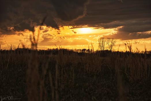 An intense sunset last spring