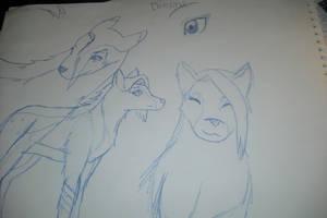 Dienna my OC wolf style by KyloMutt