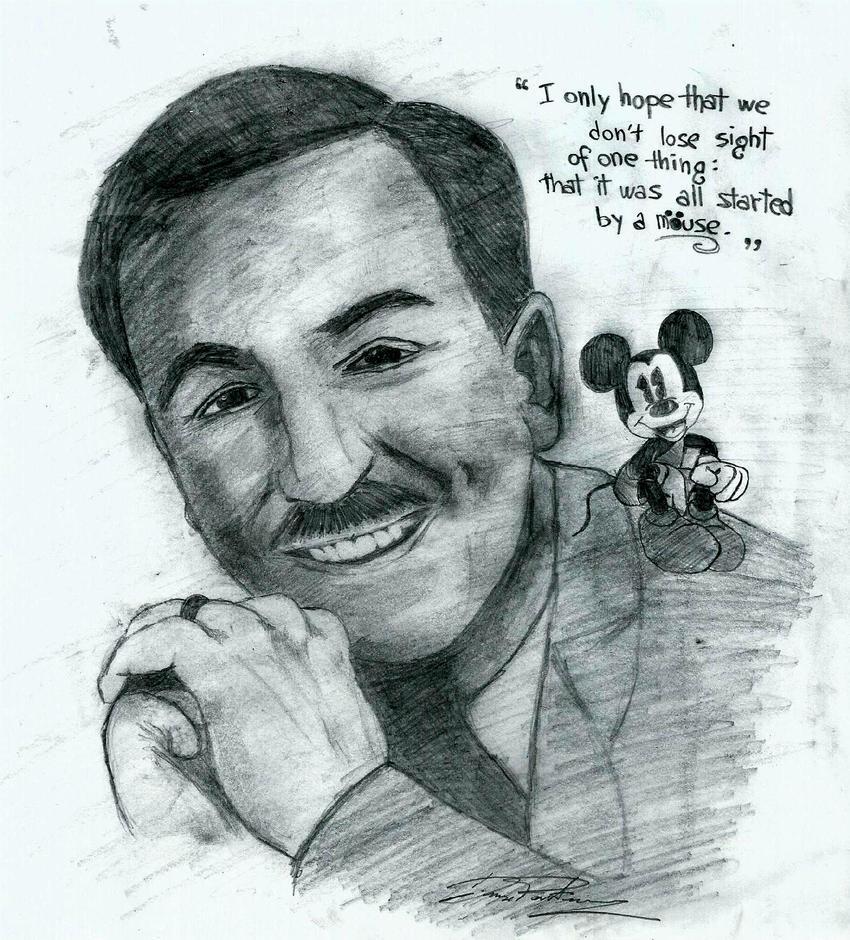 Mr. Walt Disney and Mickey Mouse by Dedde94 on DeviantArt