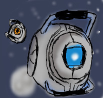 Wheatley and Space core by twigglesbear