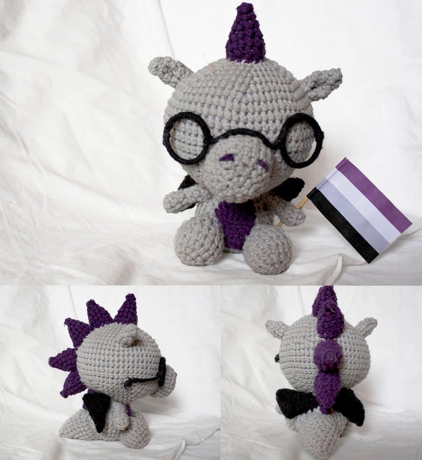 Asexual Dragon (available on etsy) by stickfigures123