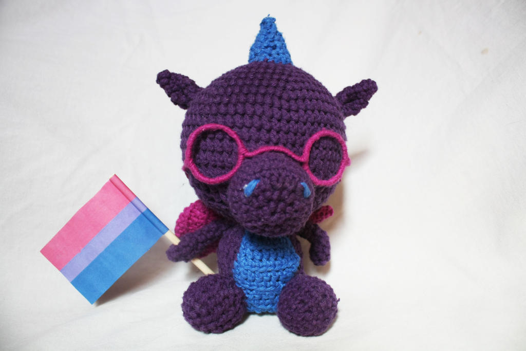 Bisexual Pride Dragon (available on etsy) by stickfigures123