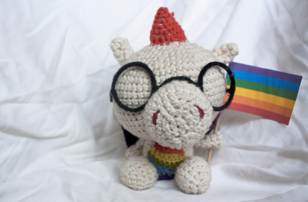 Gay Pride Dragon (available on etsy) by stickfigures123