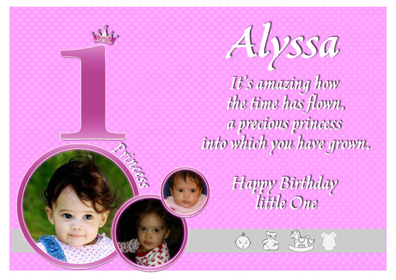 One Year Old Birthday Card gangcraftnet – Birthday Greetings for 1 Year Old