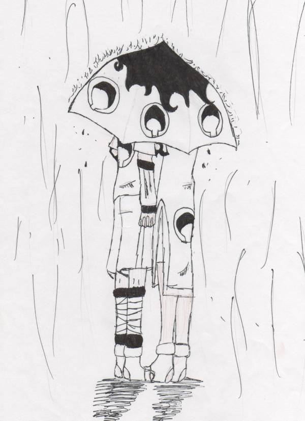 sasusaku rain by we-love-sasuke