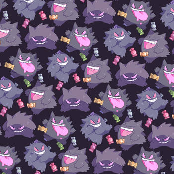 Gengar Pattern by Andcetera