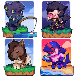 animal crossing pixel commissions by Andcetera