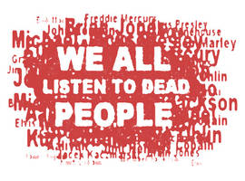 WE ALL LISTEN TO DEAD PEOPLE logo by DB-Krk-171