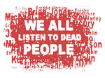 WE ALL LISTEN TO DEAD PEOPLE logo