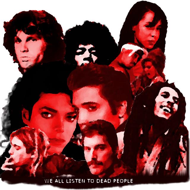 WE ALL LISTEN TO DEAD PEOPLE logo v.2 by DB-Krk-171