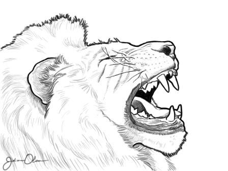 Roaring Lion Drawing Easy