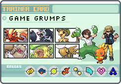 Game Grumps Trainer Card Emerald by OkaMilan