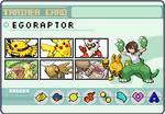 Pokemon Trainer Egoraptor