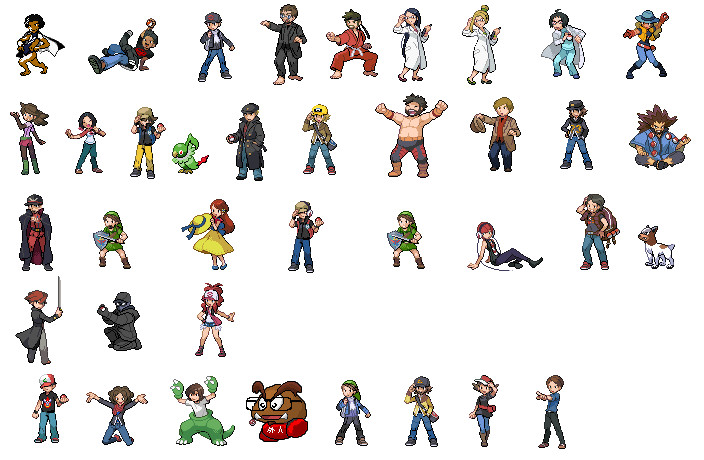 Internet People Trainer Sprites by OkaMilan