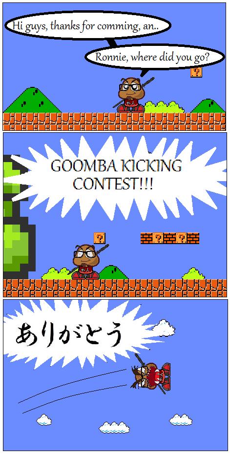 GOOMBA KICKING CONTEST by OkaMilan