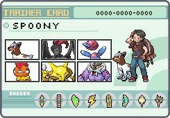 Spoony Trainer Card Update by OkaMilan
