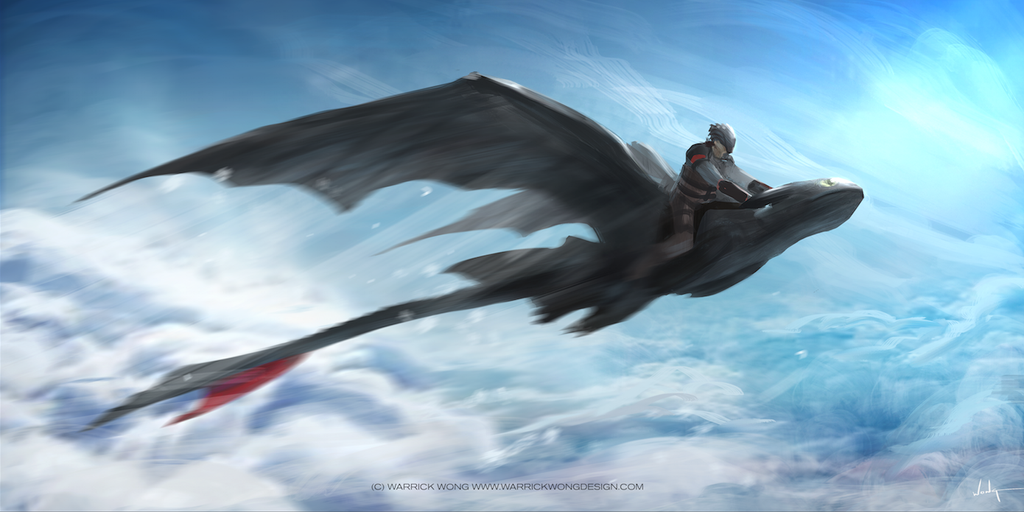 Toothless and Hiccup FLY NOW by waLek05 on DeviantArt