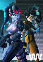 Widow Maker and Tracer by waLek05