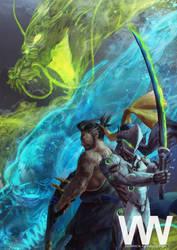 Hanzo and Genji by waLek05