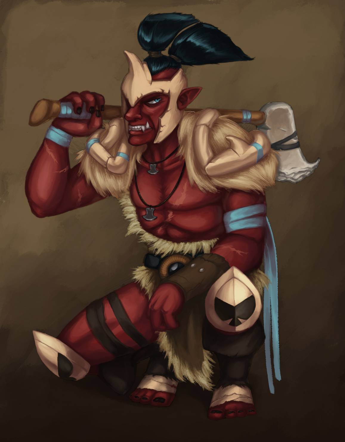 271113 troll warlord by dreaminginferno on deviantart