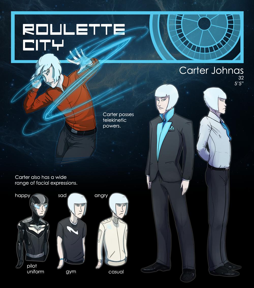 Host NPC: Carter Johnas by Triple-Torch-Art