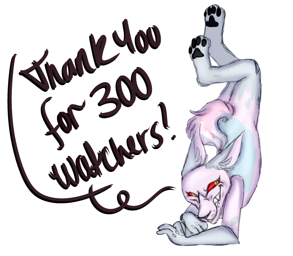 thank you guys for 300! by gurobaka