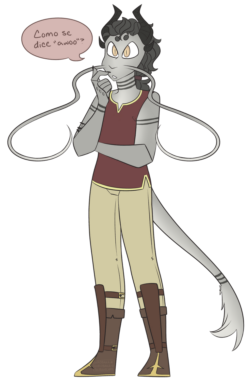 my first dnd character is a scalie r yall proud by comunagrave