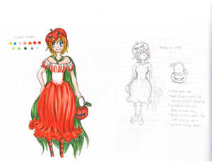 Pumpkin Girl-Costume Design