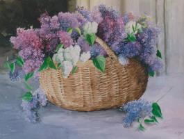 Basket of lilacs by kya-azar
